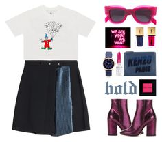 """""""open your heart."""" by the-vagabond ❤ liked on Polyvore featuring UNIF, Markus Lupfer, Dries Van Noten, CÉLINE, Kenzo, Bobbi Brown Cosmetics, Yves Saint Laurent, Marc Jacobs, Rodin and pleats"""