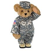 SOMETHING TO HUG (Vermont Teddy Bear) - Sells military-outfitted teddy bears. www.operationwearehere.com/children.html