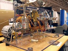 Heat-exchanger, E61 grouphead espresso machine cut-away. Photo by RoasterOnTheRoof, via Flickr.
