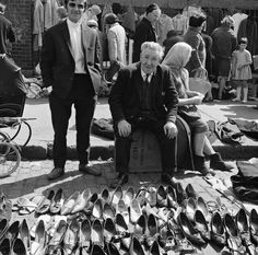 Soft Shoe Shuffle - Some cool women\'s shoes 8 images: Soft Shoe Shuffle Image by National Library of Ireland on The Commons Secondhand (pre-owned!) shoe stall at Cumberland Street Market in Dublin. swordscookie knew both of these men to see ar Old Pictures, Old Photos, Vintage Photos, Images Of Ireland, Photo Engraving, Bags Online Shopping, Dublin, Types Of Shoes, Historical Photos