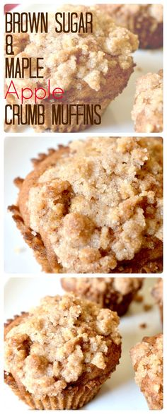 :  Brown Sugar & Maple Apple Crumb MuffinsThese vegan muffins are really delightful! The ingredients are true to the fall season without being overwhelming, and best of all, you probably already have everything you need to make them.