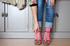 Chaussettes Pas Chassé et sandales asos
