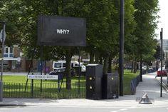 MOBSTR GRAFFITI STREET ART WHY SIGN
