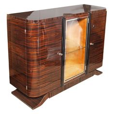 Classic French Art Deco Exotic Macassar Ebony Buffet