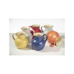 Brocca in ceramica colorata per acqua e vino cm 20x18