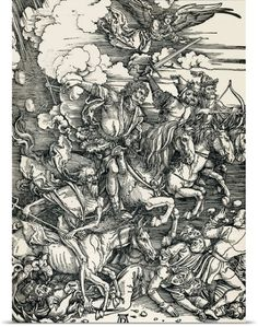 Sheila Terry Poster Print Wall Art Print entitled Four Horsemen of the Apocalypse, None