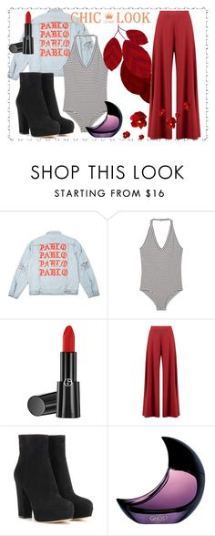"""""""Chic look"""" by katrine-bulow ❤ liked on Polyvore featuring MANGO, Giorgio Armani, Boohoo and Gianvito Rossi"""
