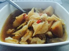 Spicy Cabbage and Potato Soup