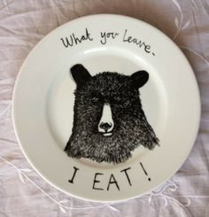 Bear! HA! I bought this plate (well, the Sandwich Defender version, where bear has a mask on) for my Bear last year! Great art plate.