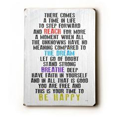 Step Forward by Artist Lisa Weedn Wood Sign