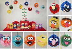 How cute are these Sesame Street tissue pompoms? Such a clever idea http://thewhoot.com.au/media/slider/sesame-street-pom-pom-tutorial