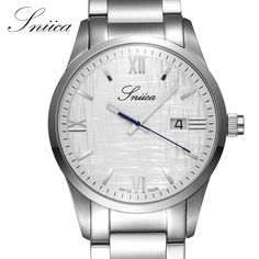(105.18$)  Watch now  - SNIICA Quartz watch men Full Stainless Steel Business Wristwatch Date Clock Man Swiss movement watches relogio masculino SN2701