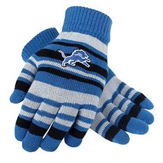 Detroit Lions Official NFL Stretch Gloves -- Check this awesome product by going to the link at the image.