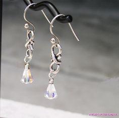 Sold- Clear Crystal Dangle Earrings Infinity Style by beadloverskorner, $18.99