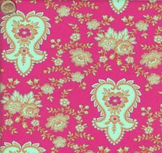 End of Bolt - Last 24 Inches - Jennifer Paganelli Stephanie in Magenta. $6.00.....So cute! This is the last little bit of Jennifer Paganelli's Stephanie in Magenta we have! This fabric is so cute and would make an excellent pencil pouch! Come check out this same print in blue at quiltsandwich.etsy.com