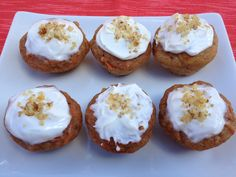 Carrot Muffins with Greek Yogurt & Cream Cheese Frosting  - uses Greek yogurt and applesauce    Nutrition Babes - Think Healthy ... Not Skinny