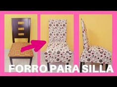 FORRO O FUNDA PARA SILLAS - YouTube Sewing Piping, Puff Quilt, Dinning Chairs, Slipcovers For Chairs, Rangoli Designs, Chair Covers, Quilt Tutorials, Baby Hats, Decoration