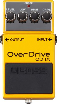 Boss OD-1X Special Edition Overdrive Effects Pedal