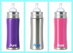 Pura kiki. mamaderas de acero inoxidable 1005 libre de plásticos. Colores disponibles.