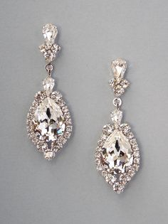 LEVINA - Teardrop Classic Crystal Earrings