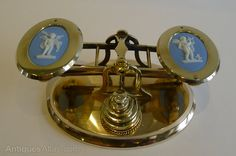 Antiques Atlas - Antique English Letter Scales With Wedgwood C.1860