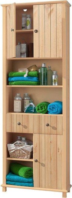 Badezimmer Hochschrank in Weiß Eiche Sonoma 35 cm Jetzt bestellen - badezimmer hochschrank 40 cm breit