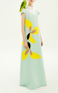 Long Patchwork Dress by DELPOZO for Preorder on Moda Operandi