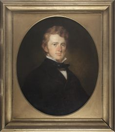 Benjamin Gratz Brown (1826-1885), Oliver Frazer, oil on canvas, ca. 1845, Lexington. Tour Guide, Exhibit, Kentucky, Oil On Canvas, 19th Century, Mona Lisa, Brown, Artist, Artwork