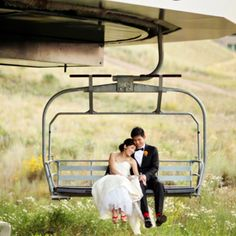 A Stylish Red, Orange and Green Mountain Wedding at Deer Valley Resort