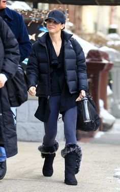 Celebs bundle up in New York City