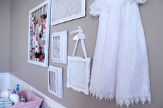 do it yourself divas: DIY: Framed Lace for Baby Girl Nursery