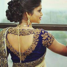 Latest saree blouse back neck designs 2018 full - Summersville Сlick Blouse Back Neck Designs, Best Blouse Designs, Wedding Saree Blouse Designs, Wedding Sarees, Sari Design, Diy Design, Stylish Blouse Design, Designer Blouse Patterns, Fashion Moda