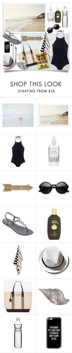 """Untitled #64"" by xenalevina ❤ liked on Polyvore featuring She Hit Pause Studios, J.Crew, IPANEMA, Sun Bum, Yves Saint Laurent, Dot & Bo, Casetify and Master & Dynamic"