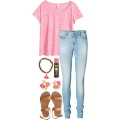tysm for 1k likes and 100 followers!!!!!!!!!!! by alexisfloyd on Polyvore featuring polyvore fashion style H&M Vero Moda Ancient Greek Sandals Kate Spade Sun Bum
