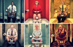Inför porslinstronen är vi alla lika - även världens ledare måste gå på toaletten.