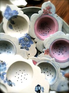 Linda Fahey Porcelain Tea Strainers. $24.00, via Etsy.
