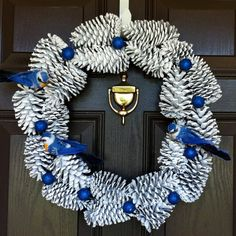 Piña corona guirnalda de la Navidad guirnalda de por CraftElegance