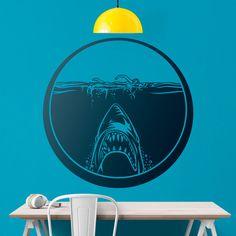 Adesivi Murali: Film Lo squalo #cinema #decorazione #deco #StickersMurali
