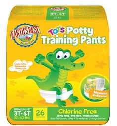 Earth's Best TenderCare Chlorine Free Tots Potty Training Pants - 26 ct., Size 3t-4t  #Unknown #Baby_Product