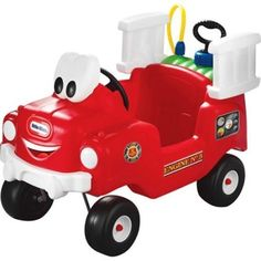 Red Little Tikes Spray & Rescue Fire Truck Fun & Creative Play Really Squirts  #LittleTikes