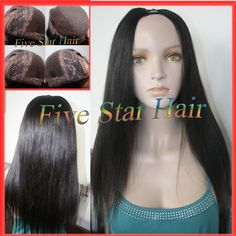 Find More Wigs Information about 6A Grade 100% real Human hair U part wigs off black light yaki straight U part wig virgin hair Peruvian wigs for black women ,High Quality light sapphire,China light blue short dresses Suppliers, Cheap light purple cosplay wig from Five star human hair products store  on Aliexpress.com