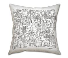 #Metropolis #Pillow - rest your head on the #city.