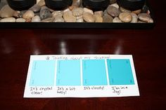 """Here's another idea for teaching metacognition. Gather paint samples that show a range of shades and use them as a thinking scale. Students can track their thinking as they read using the """"Thinking about my thinking"""" strips. They can describe their level of comprehension in common language during conferences and partner reading as well. This is also especially helpful in the other content areas or as an introduction to rubrics."""