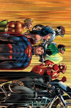 """Justice League"" Turns 50 In DC Comics' April 2016 Solicitations, Harley's Presence Grows & More - visit to grab an unforgettable cool Super Hero T-Shirt! Comic Book Characters, Comic Character, Comic Books Art, Comic Art, Arte Dc Comics, Dc Comics Poster, John Romita Jr, Video Humour, Bon Film"