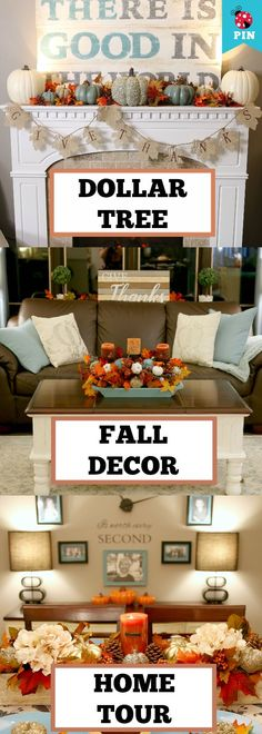 Dollar Store Fall Decor Ideas! Dollar Store Decorating for Fall! https://youtu.be/8OY6XobHcdY
