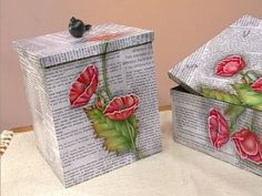 The world's catalog of creative ideas Decoupage Box, Decoupage Vintage, Diy And Crafts, Arts And Crafts, Paper Crafts, Diy Y Manualidades, Creative Box, Pinterest Crafts, Pretty Box
