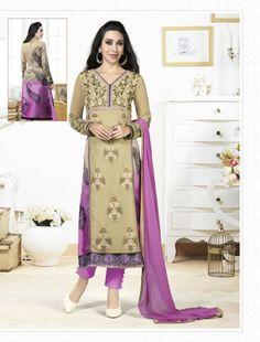 Karisma Kapoor Beige Georgette Kameez With Pant 59582