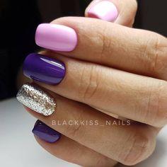 Summer Nail Designs - My Cool Nail Designs Cute Acrylic Nails, Cute Nails, Pretty Nails, Short Gel Nails, Luxury Nails, Dipped Nails, Gel Nail Designs, Fabulous Nails, Purple Nails
