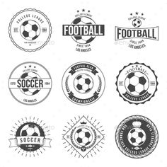 Illustration of Soccer Football Typography Badge Design Element vector vector art, clipart and stock vectors.