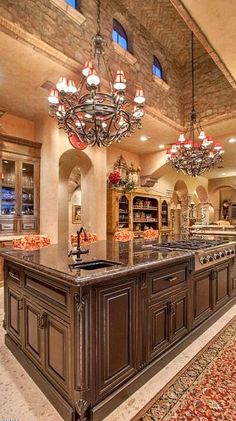 Incredible custom designed kitchen. ~ 30 Stunning Kitchen Designs - Style Estate -